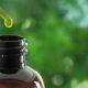 Dropper over cbd oil bottle
